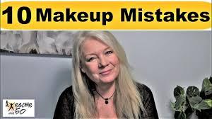 top 10 makeup beauty mistakes tips over 50s women