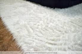 white faux rug how to make a faux fur rug diy faux flokati rug 13a white white faux rug
