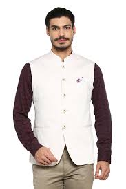 Allen Solly Suits Blazers Allen Solly Cream Waistcoat For Men At Allensolly Com