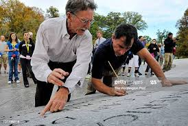 Master stone mason John Everett Benson, left, who did the original... News  Photo - Getty Images