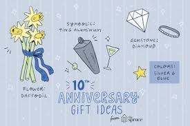 gift ideas for a 10th wedding anniversary