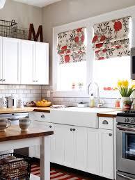 lovely kitchen remodel white cabinets subway tile backsplash and butcher block countertops