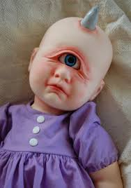 Cyclops Baby Doll A One Eyed One Horned Crying Purple
