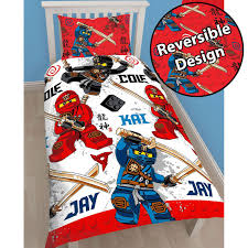 OFFICIAL LEGO SINGLE JUNIOR DUVET COVERS CITY, NINJAGO, STAR WARS &  SUPERHEROES
