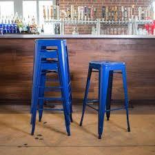royal blue bar stools. Beautiful Stools Stackable Metal Bar Stool In Blue Set Of 4 In Royal Stools