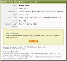 Vs Ancestry Ssdi Ancestry com Insider The org Familysearch