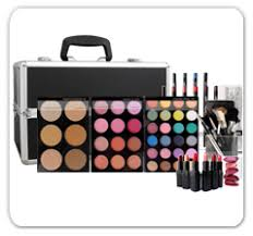 cosmetic train cases professional mineral makeup kit