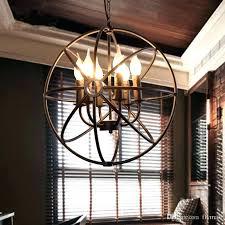 rustic orb chandelier restoration hardware chandeliers iron