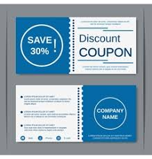 coupon design discount coupon design template royalty free vector image