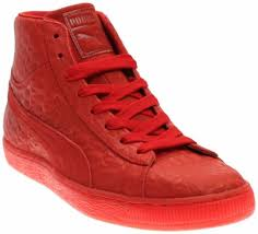 puma suede mid me iced red mens