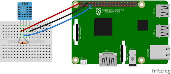how to set up the dht11 humidity sensor on the raspberry pi four pin dht11 ssh output