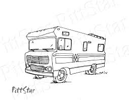 Camper Drawing Free Download On Ayoqqorg