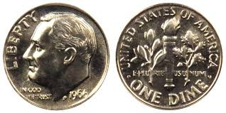 Roosevelt Dime Value Chart 1966 Roosevelt Dime Coin Value Prices Photos Info
