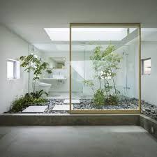 Japanese Bathrooms Design Natural Modern Floral Japanese House Interior Design With Garden