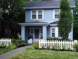 white fence ideas. White Picket Fence Highlights Front Yard Landscaping Makeover Ideas D