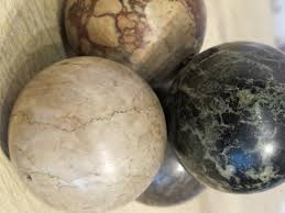 Decorative Marble Balls New Set Of Four Early 32th Cent Marble Balls Decorative Items