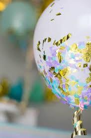 diy confetti glitter balloons