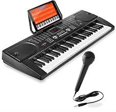 Letters in the music sheets refer to the keys on your computer. Amazon Com Hamzer 61 Key Digital Music Piano Keyboard Portable Electronic Musical Instrument With Microphone And Sticker Sheet Musical Instruments