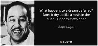 A Raisin In The Sun Dream Quotes Best of Langston Hughes Quote What Happens To A Dream Deferred Does It Dry