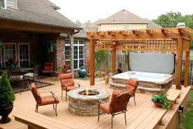 Backyard Hot Tub Landscaping Ideas Pictures seoandcompanyco