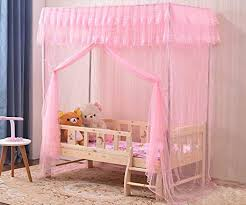 Amazon.com: Mengersi Princess 4 Corners Bed Canopy Curtain Mosquito ...