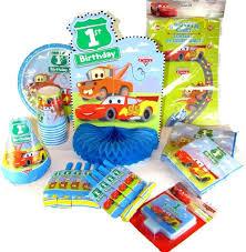 First Birthday Party Supplies 9 Item Disney Pixar Cars