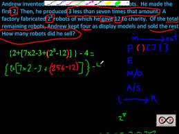 Order of Operations - A Word Problem Written as an Expression with ...
