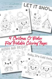 Our christmas coloring sheets are a brilliant free resource for teachers and parents to use in class or at home. 4 Free Printable Kids Christmas Coloring Pages Pdf Oh My Creative