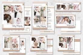 wedding book cover template wedding photography marketing set