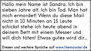 Hallo Mein Name Ist Sandra Ich Bin Sieben Jahre Alt Ich Bin Tod