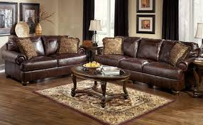 Furniture: Elegant Brown Ikea Leather Sofa With Decorative ...