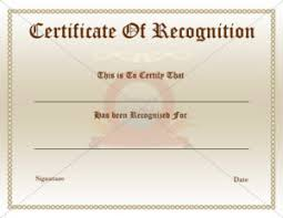 Recognition Awards Certificates Template Recognition Award Certification Template
