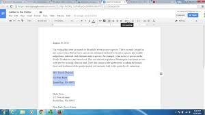 how do you format a letter block letter format google docs