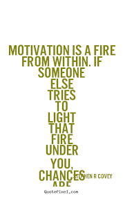 Fire Quotes Inspiration Stephen R Covey Picture Quotes Motivation Is A Fire From Within