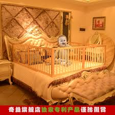 qi yi solid wood children s bed baby bed baby bed rails fence game around the column