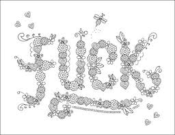 Small Picture F Adult Swear Words Coloring Page Free Download from John T