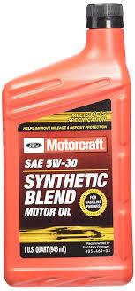 amazon genuine ford fluid xo 5w30 5qsp sae 5w 30 premium synthetic blend motor oil 5 quart jug automotive