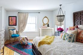 refined chic bohemian bedroom