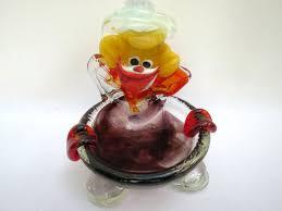murano galss clown ashtray