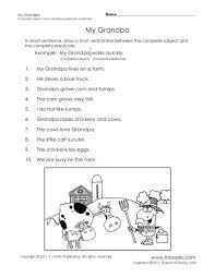 Complete Subject And Complete Predicate Worksheet Free Worksheets ...