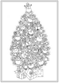 Christmas Tree Coloring Pages for Adults 2017- Dr. Odd