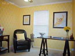 yellow office decor. yellow stenciled wall for my new home officecraft room how to nest less office decor w