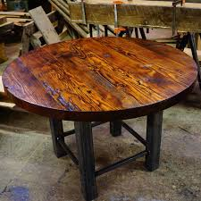 Barnwood Kitchen Table Round Barnwood Kitchen Table Cliff Kitchen