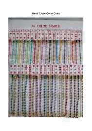 Bead Color Chart Bead Chain Color Chart