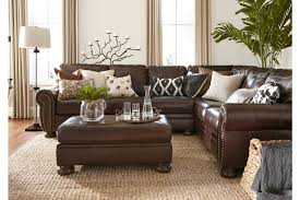 banner coffee top leather sectional signature design by ashley