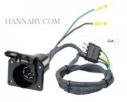 hopkins 47205 4 wire flat to 7 way round rv blade plug adapter mfg hopkins 47205 4 wire flat to 7 way round rv blade plug adapter