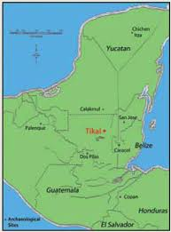 expedition magazine a marvel of maya engineering Mayan Cities Map tikal is located in northern guatemala this regional map of the maya area shows tikal mayan city map