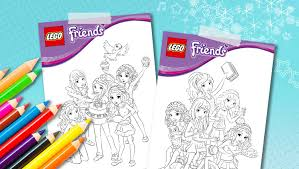 Small Picture Download LEGO Friends coloring sheets Downloads Activities
