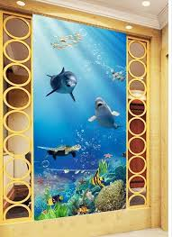 ①40d Wallpaper Home Decoration Underwater World Fish 40d Entrance Beauteous Home Decoration Painting Collection