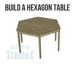 hexagonal extending dining table. free furniture plans build hexagon dining table from @cher-ann texter - designs by hexagonal extending